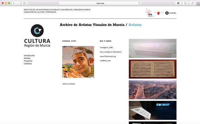 Fito Conesa Archivo Artistas Visuales Murcia