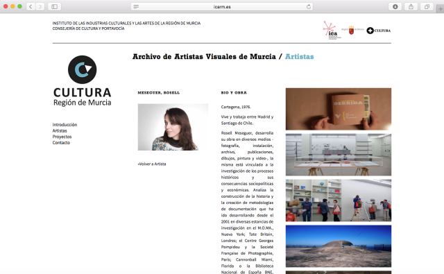 Rosell Meseguer Archivo Artistas Visuales Murcia