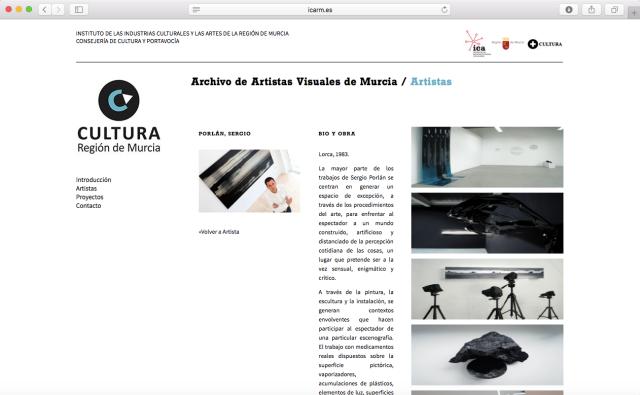 Sergio Porlán Archivo Artistas Visuales Murcia